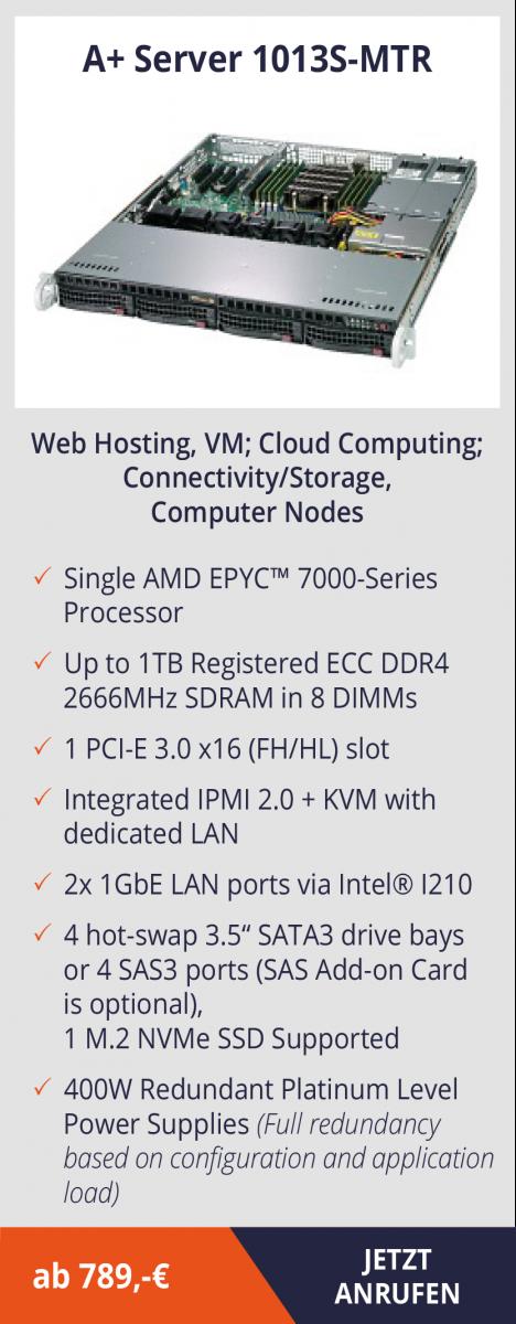 AMD EPYC Server – leistungsstarke Systeme, die Kosten senken  AMD EPYC Server – leistungsstarke Systeme, die Kosten senken
