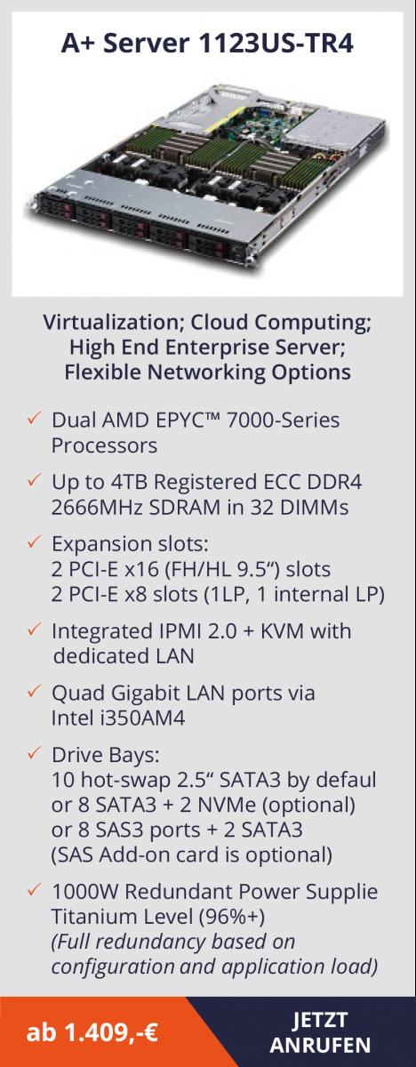 AMD EPYC Server – leistungsstarke Systeme, die Kosten senken  AMD EPYC Server – leistungsstarke Systeme, die Kosten senken  AMD EPYC Server – leistungsstarke Systeme, die Kosten senken