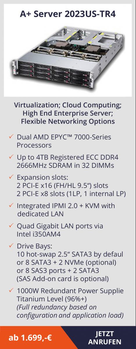 AMD EPYC Server – leistungsstarke Systeme, die Kosten senken  AMD EPYC Server – leistungsstarke Systeme, die Kosten senken  AMD EPYC Server – leistungsstarke Systeme, die Kosten senken  AMD EPYC Server – leistungsstarke Systeme, die Kosten senken