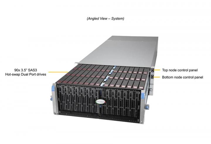 SSG-6049SP-DE2CR90 90x 35 SAS3 Hot-Swap Dual Port
