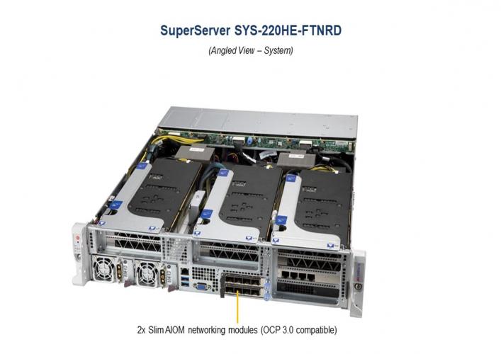 Supermicro SYS-220HE-FTNRD 2U Rack Dual Intel Xeon