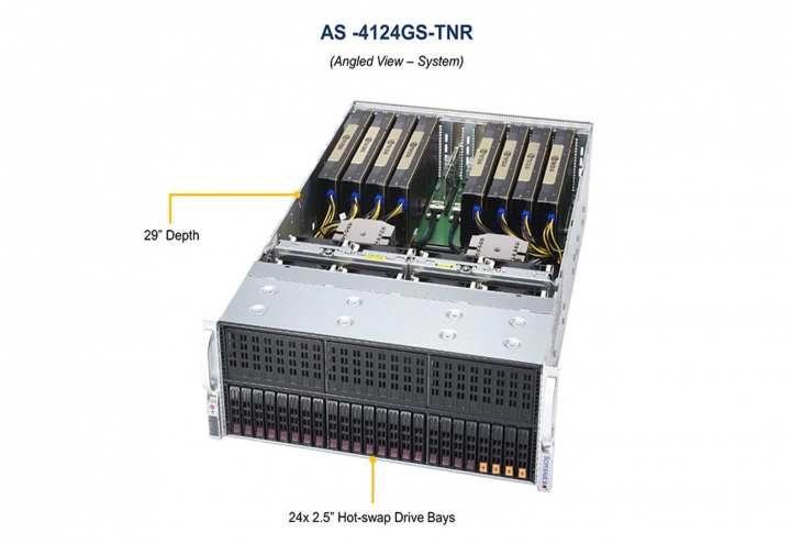 Supermicro AS-4124GS-TNR 4U Dual AMD EPYC 7003