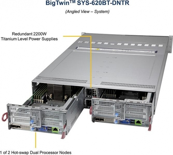 Supermicro SYS-620BT-DNTR 1 of 2 Hot-swap Dual