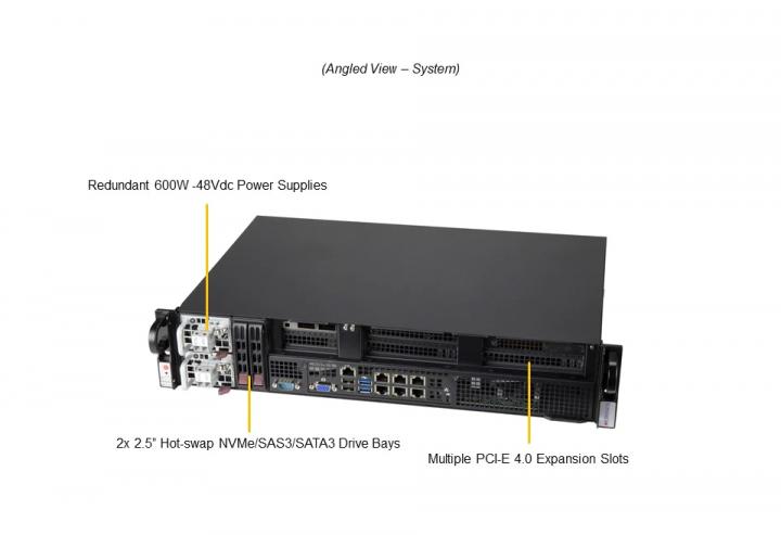 Supermicro SYS-210P-FRDN6T 2U Rack 4x Internal fan