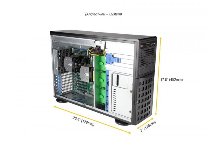 Supermicro SYS-740A-T 4U Tower 5x PCI-e 4.0 x16