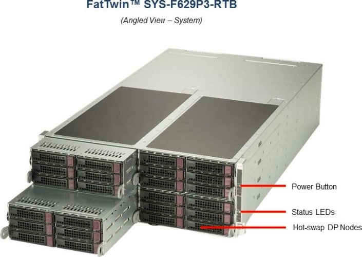 Supermicro FatTwin SYS-F629P3-RTB 4-Node Server