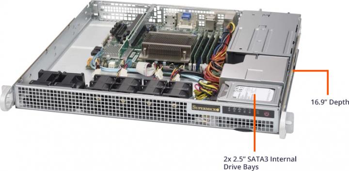 Supermicro SYS-1019S-M2 1U Server 1HE