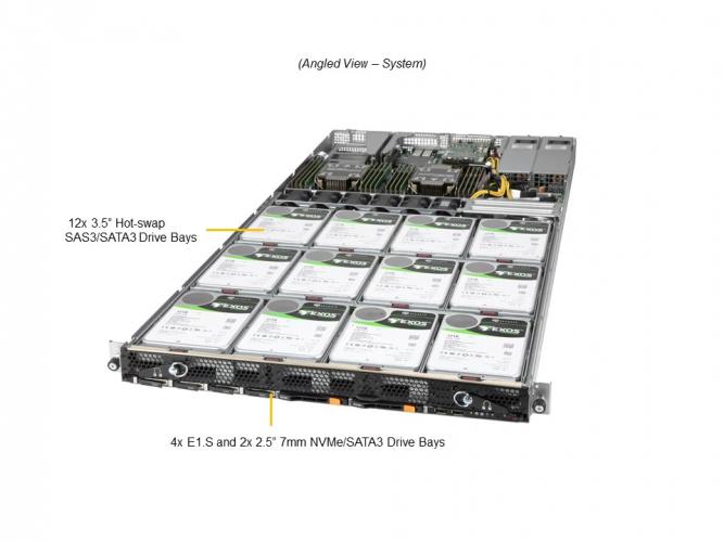 Supermicro SSG-610P-ACR12N4L 1U Rack Dual Socket P