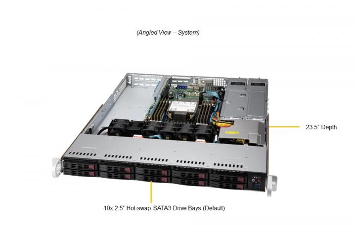 Supermicro SYS-110P-WTR Rackmount 10x 2.5 Hot-swap