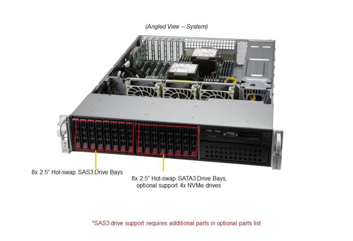 Supermicro SYS-220P-C9R Mainstream 2U Rackmount