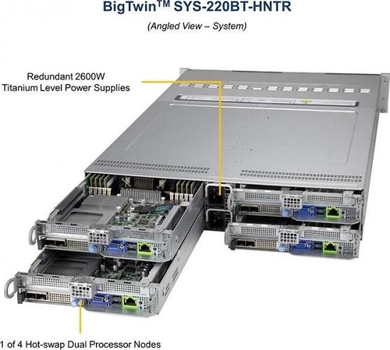 Supermicro SYS-220BT-HNTR Redundant 2600W Titanum