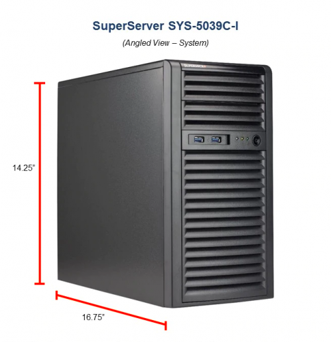 Supermicro SYS-5039C-I Tower Workstation/Server