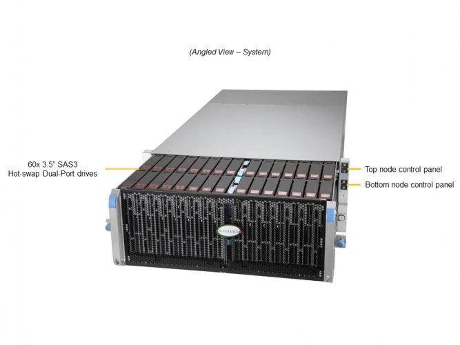 Supermicro SSG-640SP-DE2CR60 4U Rack Dual socket P
