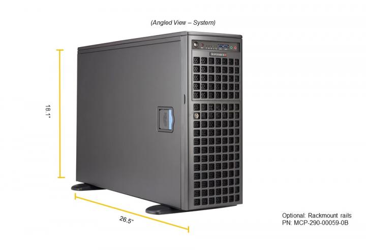 Supermicro Full Tower 3rd Gen Intel Xeon Single