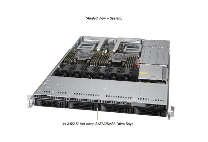 Supermicro SYS-610C-TR 1U Rack 4x 3.5 Hot-swap