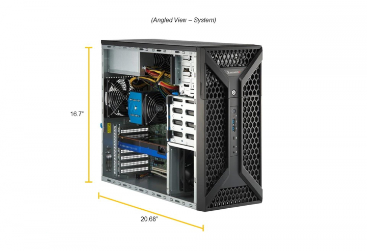 Supermicro SYS-530A-IL Mid Tower Intel Xeon W1200