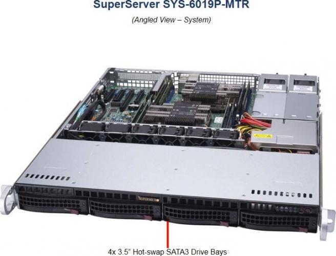 Supermicro SYS-6019P-MTR 1HE Rack Dual Xeon Server