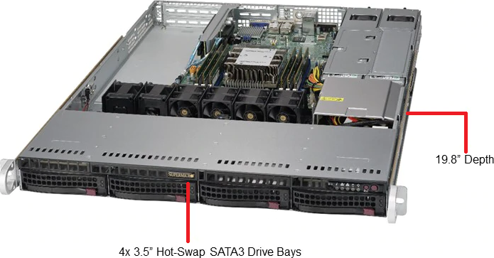 Supermicro SYS-5019P-WTR 1HE Rack Server