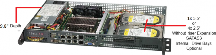 Supermicro SYS-5019D-FN8TP 1HE Rack Server, kurz