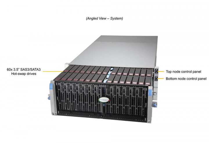 SSG-6049SP-DE1CR60 60x 3.5 SAS3 SATA3 Hot-swap