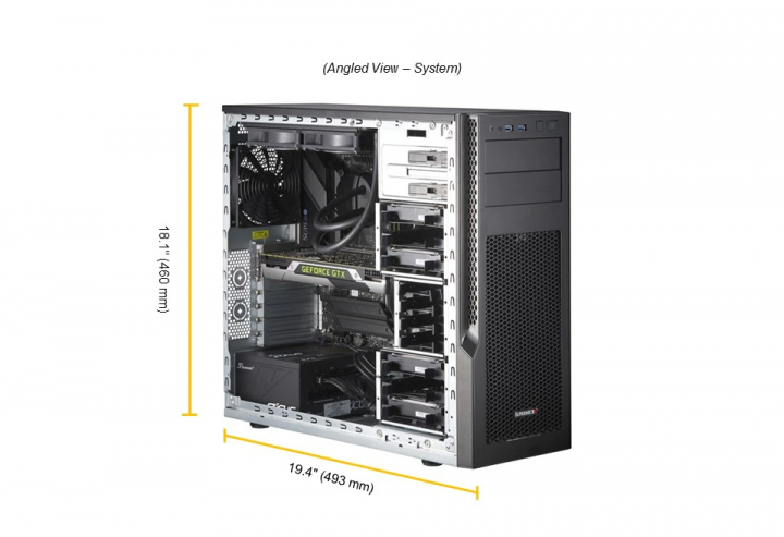 Supermicro SYS-530AD-I Mid-Tower 11thGen IntelCore