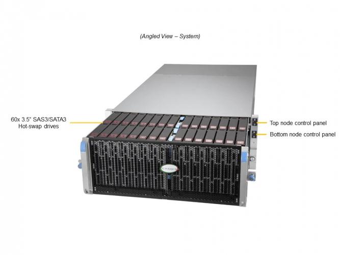 Supermicro SSG-640SP-DE1CR60 4U Rack Dual Socket P