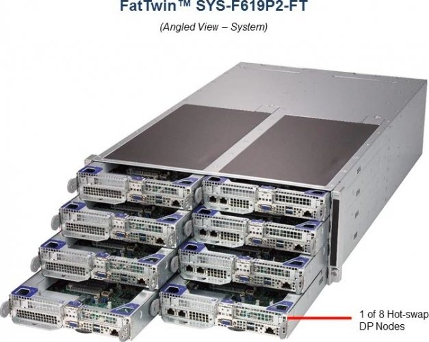 Supermicro FatTwin SYS-F619P2-FT 8-Node Server