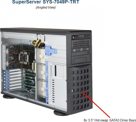 Supermicro SYS-7049P-TRT Dual Xeon Tower Server