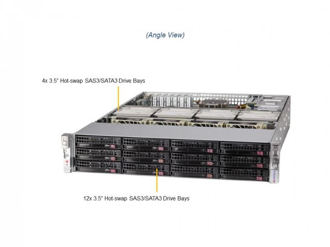 Supermicro SSG-620P-ACR16L 2U Rack Dual Socket P+