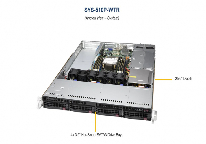 Supermicro SYS-510P-WTR UP 1U Rackmount