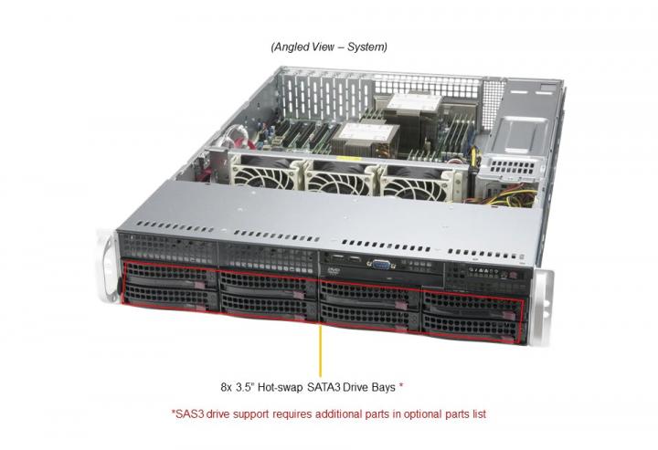 Supermicro SYS-620P-TRT Mainstream 8x 3.5 Hot-swap