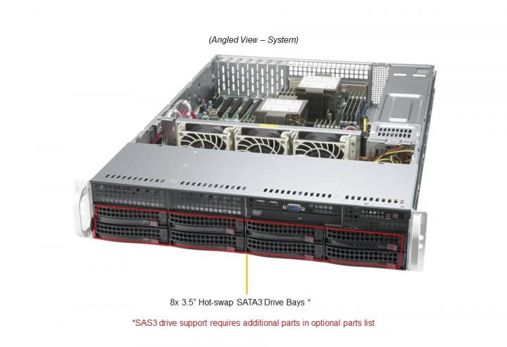 Supermicro SYS-620P-TR Mainstream 8x 3.5 Hot-swap