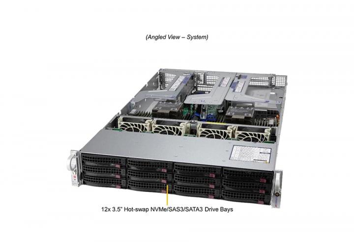Supermicro SYS-620U-TNR Ultra 2U Rackmount 12x 3.5