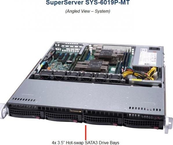 Supermicro SYS-6019P-MT 1HE Rack Server, Dual Xeon