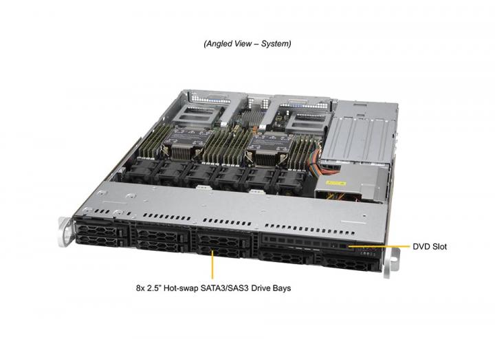 Supermicro SYS-120C-TR 1U Rack 8x 2.5 Hot-swap