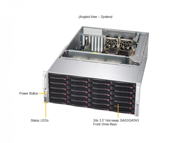 Supermicro SSG-640P-E1CR24H 4U Rack Dual Socket P+