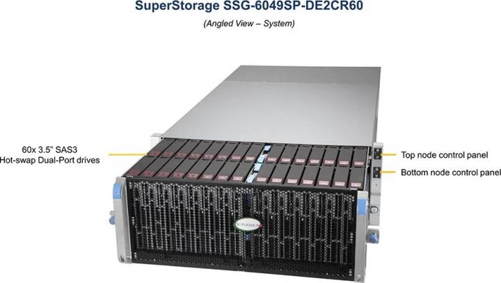 SSG-6049SP-DE2CR60 60x 35 SAS3 Hot-swap Dial-Port