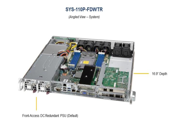 Supermicro Iot SuperServer SYS-110P-FDWTR 1U Rack