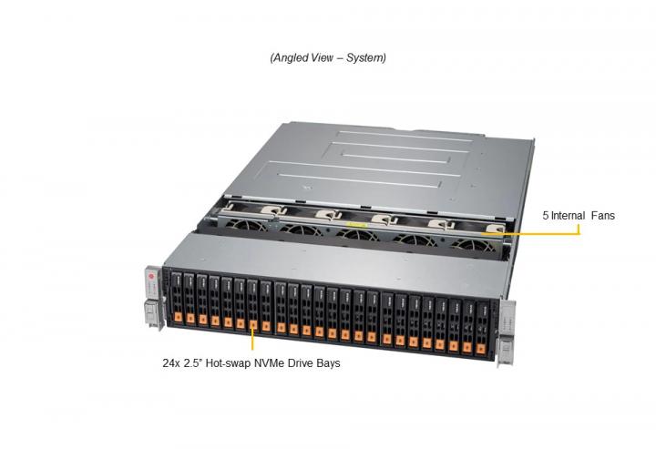 Supermicro SSG 2029P-DN2R24L 24X2.5 Hot-swap NVME