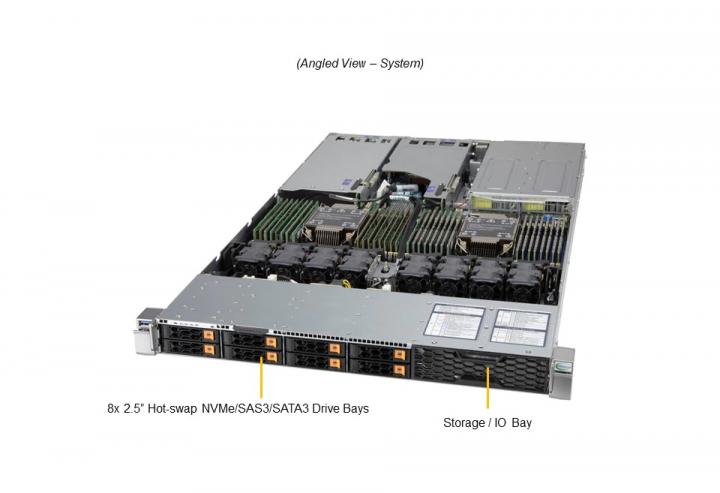Supermicro SYS-120H-TNR 1U Rack 32x DIMM slots