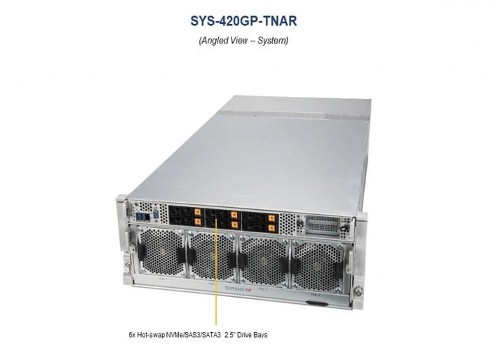 Supermicro GPU SYS-420GP-TNAR 4U Rack 270W TDP