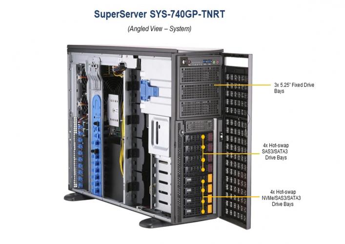 Supermicro SYS-740GP-TNRT Full Tower 4U 16x DIMM