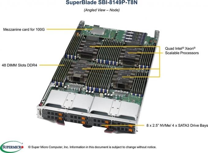 SBI-8149P-T8N | Supermicro Quad Xeon SuperBlade