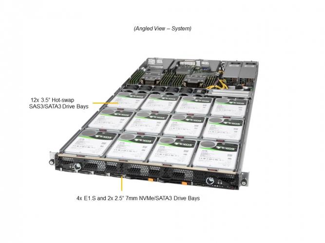 Supermicro SSG-610P-ACR12N4H 1U Rack Dual Socket P