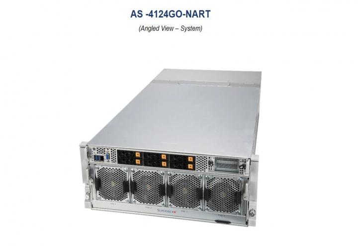 Supermicro AS-4124GO-NART 4U Rack 8 PCI-E 4.0x16