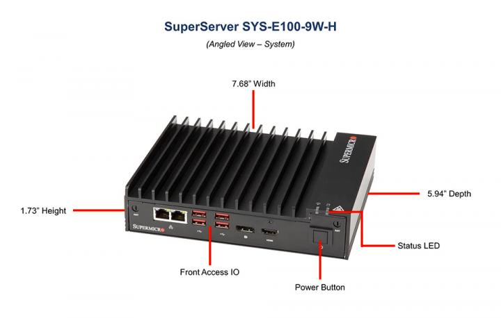 Supermicro SYS-E100-9W-H lüfterloser Mini PC, IoT
