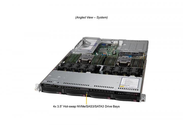supermicro SYS-610U-TNR Ultra 1U Rack